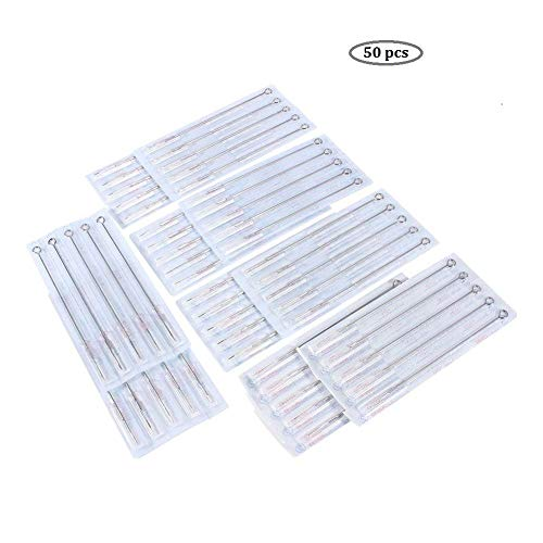 Tattoo Needles, Grips & Tips Objective 50pcs Tattoo Needles Set Black Rotary Disposable Sterile Bugpin Tattoo Needle Au Health & Beauty