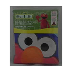 Elmo 2-Piece Toddler Fitted Sheet Set