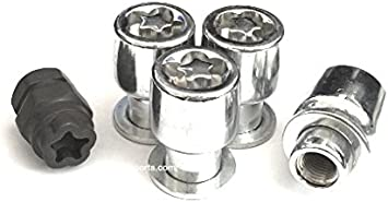 "4 12x1.25 Security Wheel Locks W// Key Chrome 1.4/"" Acorn Cone Seat"