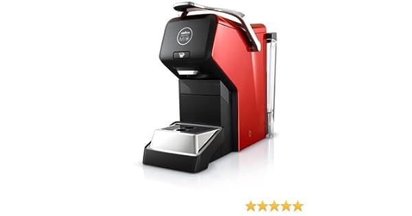 Electrolux ESPRIA ELM 3100 RE - Cafetera de cápsulas, 1200 W, color negro y rojo