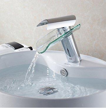 personnalisé robinet lavabo moderne cascade conçu bec de verre ...
