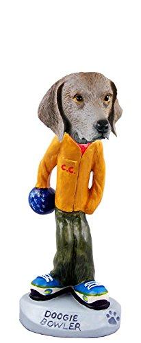 Weimaraner Bowler Doogie Collectable Figurine