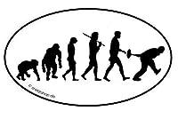 Eisstockschießen Eisstock Curling Evolution Aufkleber Autoaufkleber Sticker...