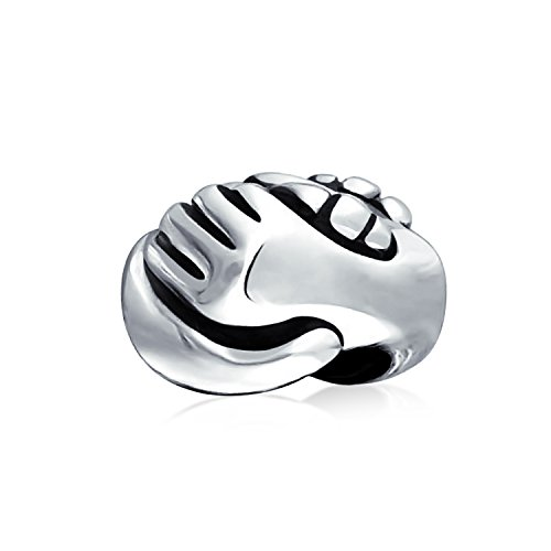 Bling Jewelry Frendship Handshake Charm Bead .925 Sterling Silver