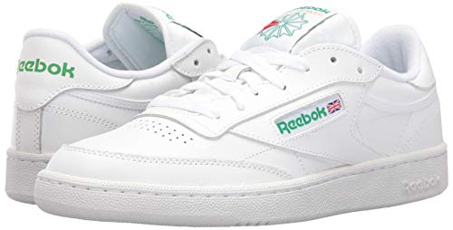 Reebok Men's Classic Sneaker (43 M EU / 10 D(M) US, Int-White/Green)