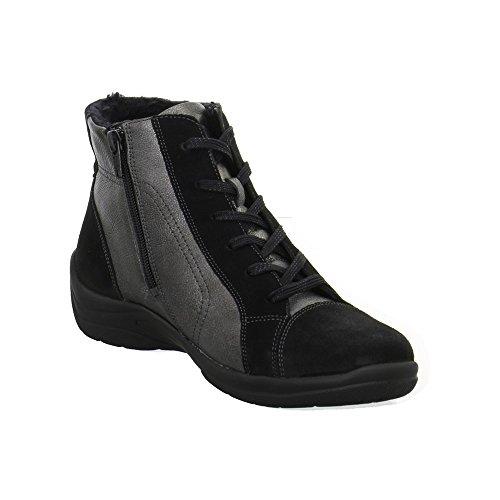 Waldläufer 312801201564 - Botas de Piel para mujer Negro