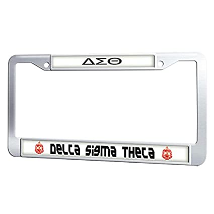 Amazon.com: GumiHolders Delta Sigma Theta License Plate Frame ...
