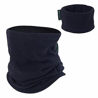 Qinglonglin 2 Pack Neck Gaiter Versatile Lightweight Fleece Headwear Bandana Winter Thermal Neck Warmer Ski Full Face Mask Cover Cap