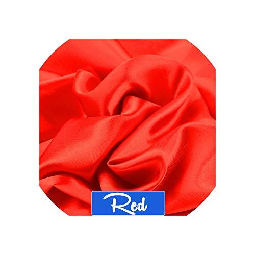 - 100cm150cm 16Colors Silks and Satins Fabric Satin Color Butyl Silk Gift Box Lining Lieb,Red,Long75cm Width100cm