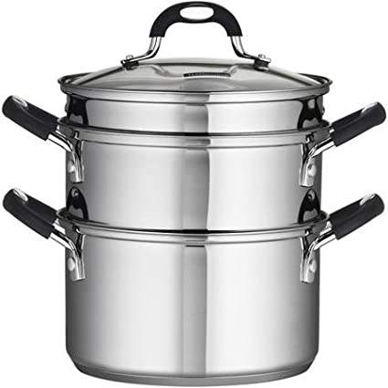 Tramontina 18/10 Stainless Steel 4-Piece 3-Quart Steamer/Double-Boiler by Tramontina BLZ-13832