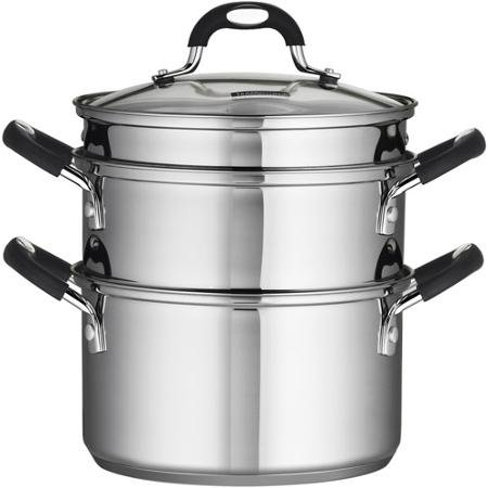 Tramontina 18/10 Stainless Steel 4-Piece 3-Quart Steamer/Double-Boiler (1)