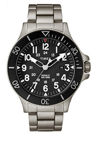 Timex Allied Coastline Stainless Steel Gray Black Watch 43MM