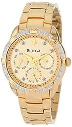 Bulova Women's 98R171 Diamond Set Case Watch