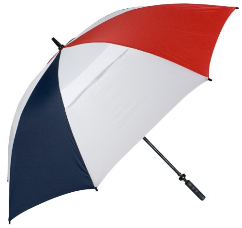 Haas-Jordan 68-Inch Hurricane 345 Tour Plus Umbrella, Red/White/Navy (68