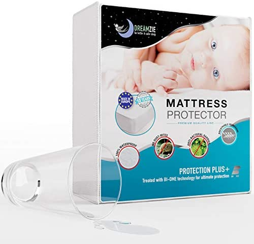 DreamzieMatrasbeschermer Waterdicht 70 x 160 cmGecertificeerd OEKOTEX en BiOme Optimale Bescherming Ademend Hypoallergeen AntiMite AntiMold Tegen Bacterin
