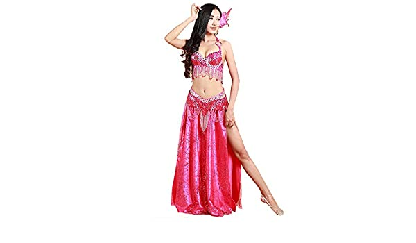Qichengdian Falda de Danza del Vientre para Mujer Disfraz De Danza ...