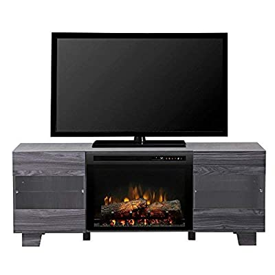 DIMPLEX Electric Fireplace, TV Stand, Media Console, Space Heater and Entertainment Center with Natural Log Set in Carbon Finish - Max #GDS25L8-1651CW