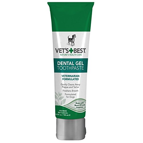 (Dog Dental Care Gel Toothpaste Plaque and Tartar Fighter from Vet's Best 3.5 ounce Made in USA)