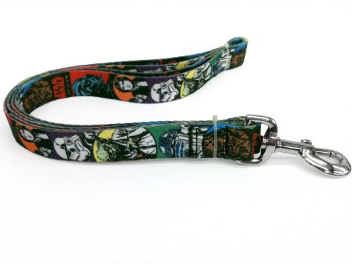 Platinum Pets Star Wars 3/4-Inch by 6-Feet Nylon Leash, Classic Design