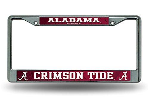 Rico Industries Alabama Crimson Tide LBL Chrome Frame Metal License Plate Cover University of ()
