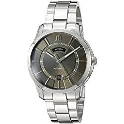 Maurice Lacroix Men's 'Pontos' Swiss Automatic Stainless Steel Casual Watch, Color:Silver-Toned (Model: PT6358-SS002-332-1)