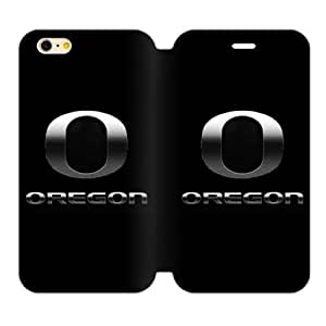 Generic Custom Extraordinary Best Design NCAA Oregon Ducks Team Logo TPU and High Grade Pu Leather Case Cover iPhone6