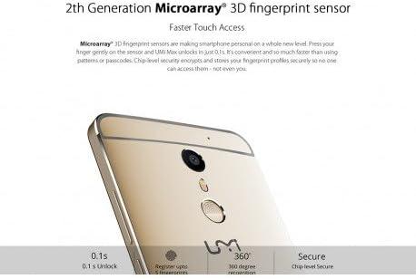 UMI MAX Smartphone - 6.0 Android, 4G, Octa-Core CPU, GPU Mali-T860 ...