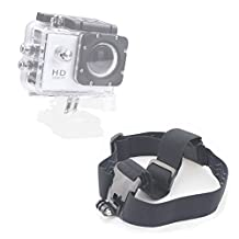 DURAGADGET High Quality Black Anti-Slip Head / Helmet Strap with GoPro Style Mount - Compatible with the Eken H9 | H8 | H3 Action Cameras