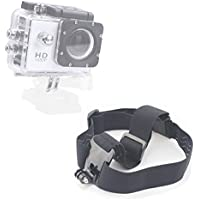 DURAGADGET High Quality Black Anti-Slip Head / Helmet Strap with GoPro Style Mount - Compatible with the TecTecTec! Sports Action Camera | XPRO1 | XPRO2 Action Cameras