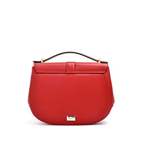 cuir Rouge italien à main sac en en sac à designer bandoulière Carbotti métal tF6q57aq