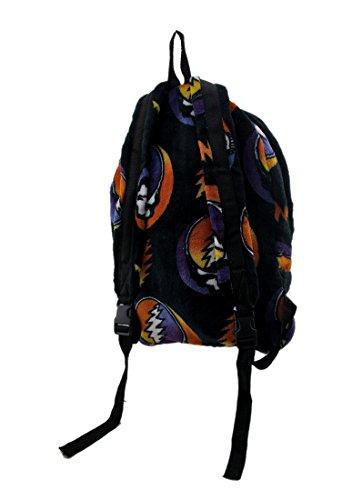 Polyester Basic Multipurpose Backpacks Grateful Dead Steal Your Face Rainbow Fleece Explorer Backpack 11 X 16 X 5 Inches Black Model # GDBAGEXPCORRAI