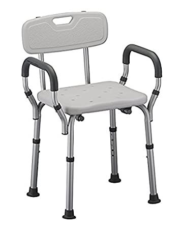 amazon com shower chair with arms by healthline trading adjustable