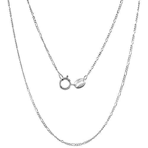 Sterling Silver Figaro Necklace Nickel