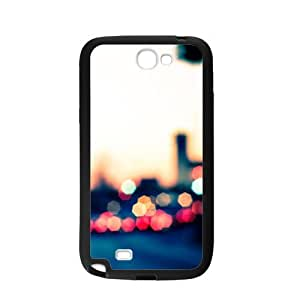 Case For Samsung Galaxy Note2 N7100,City Bokeh Lights Polycarbonate Hard Case Back Cover For Samsung Galaxy Note 2/Samsung Galaxy N7100 3D