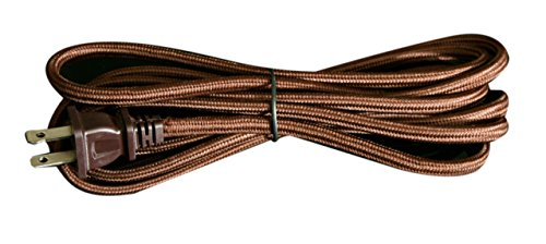 - Royal Designs CO-5001-BR-8-1 Rayon Lamp Cord With Molded Plug Brown 8' Spt1, 8', Brown