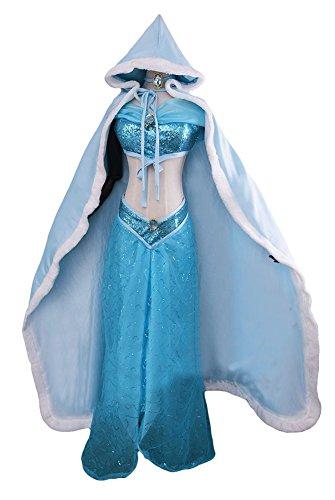Ace Deluxe Adult Women's Jasmine Princess Costume Dress With Cape Custom Made (M, Cape) (Custom Made Disney Princess Costumes)