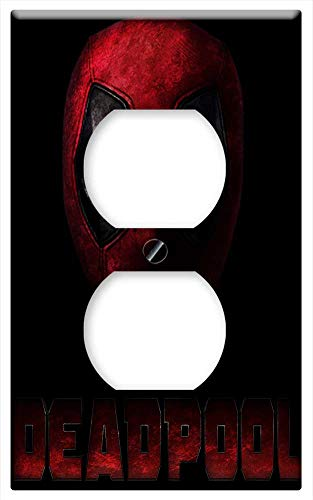 Switch Plate Outlet Cover - Marvel Deadpool Wallpaper Action Movie ()