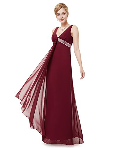 Ever-Pretty Womens Long Semi Formal Wedding Guest Dress 6 US Red
