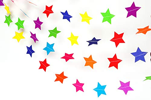 - Rainbow Stars Paper Garland Party Decorations - birthday decorations,birthday party decorations,party decorations,wedding decorations,wedding shower decorations,birthday decorations for 1st birthday