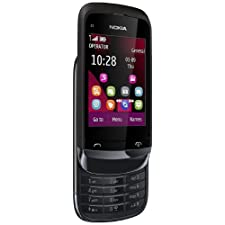 Nokia C2-02 Cellphone – 2-Inch TFT – FM Radio – 2 MP Camera – Unlocked Phone – US Warranty – Black