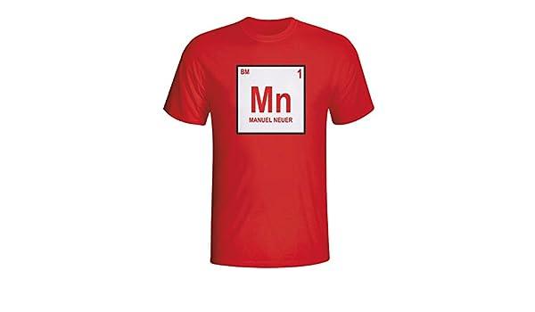 ae143159545 Amazon.com   Gildan Manuel Neuer Bayern Munich Periodic Table T-Shirt (red)    Sports   Outdoors