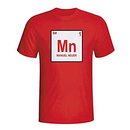 fbf3892dc23 Image Unavailable. Image not available for. Color  Gildan Manuel Neuer  Bayern Munich Periodic Table T-Shirt ...