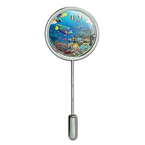 - Graphics and More Ocean Coral Reef Angel Fish Garden Diving Stick Pin Stickpin Hat Brooch