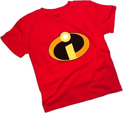 Pixar Disney, The Incredibles 2, Uniform Costume Toddler/Juvenile T-Shirt, Juvy Small (4) ()