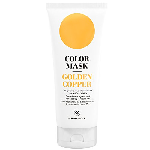 Color Mask Golden Copper Reconstructive Treatment – Toning Conditioner for Golden Copper Color Treated Hair – Light Copper Toning Treatment 6.76 oz – KC Professional