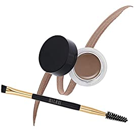 Milani Stay Put Brow Color – Brunette (0.09 Ounce) Eyebrow Color that Fills and Shapes Brows