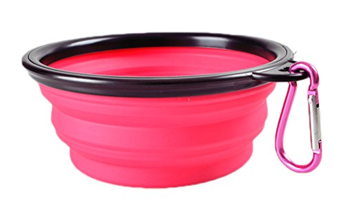 Freerun Collapsible Travel Dog Bowl Carabiners Included - Pet Travel Bowl for Food & Water Bowls - Shopping Aspen Guide