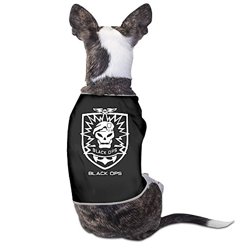 LeeRa Black Ops Game Logo Dog Clothes (Call Of Duty Black Op Pc)