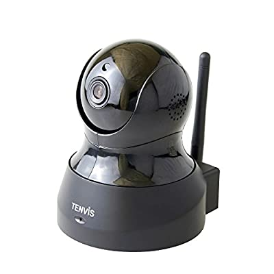 TENVIS TH661 H.264 Megapixel P2P Wireless Surveillance Smart IP Camera Network Security Camera, Baby Monitor, Night Vision, ?JPT3815W-HD Plus?- Black