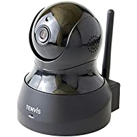 TENVIS TH661 H.264 Megapixel P2P Wireless Surveillance Smart IP Camera Network Security Camera, Baby Monitor, Night Vision, (JPT3815W-HD Plus)- Black